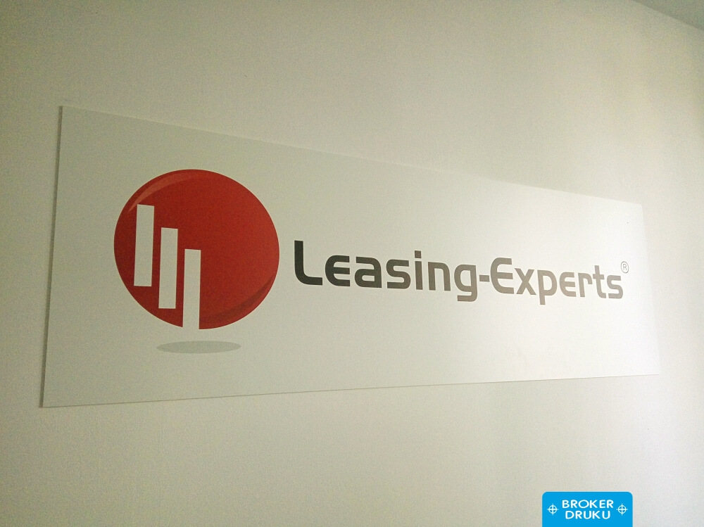 leasing experts tablica z logo na sciane broker druku